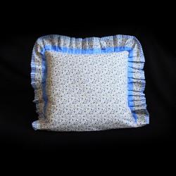 Bavlněný povlak s kanýrem - Modré kvítí