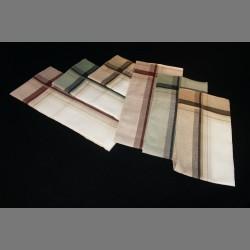 Bavlněné kapesníky pánské - barevné variace - 6 ks