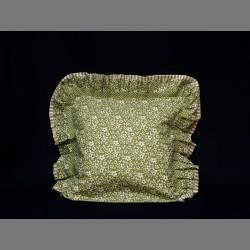 Bavlněný návlek s motivem květin - zelená